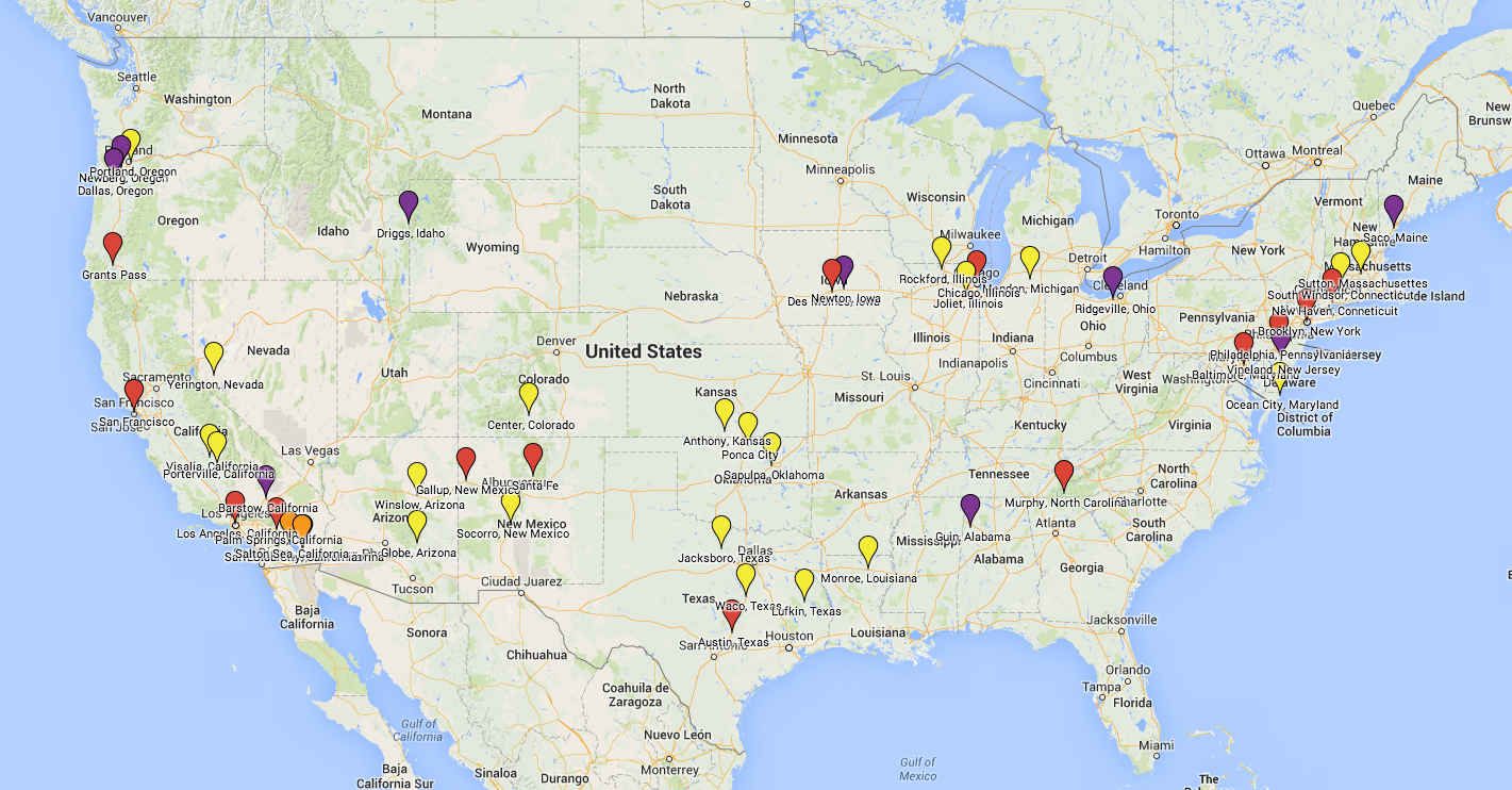 Click the image to view and interactive map of my travels with images I took at each place.