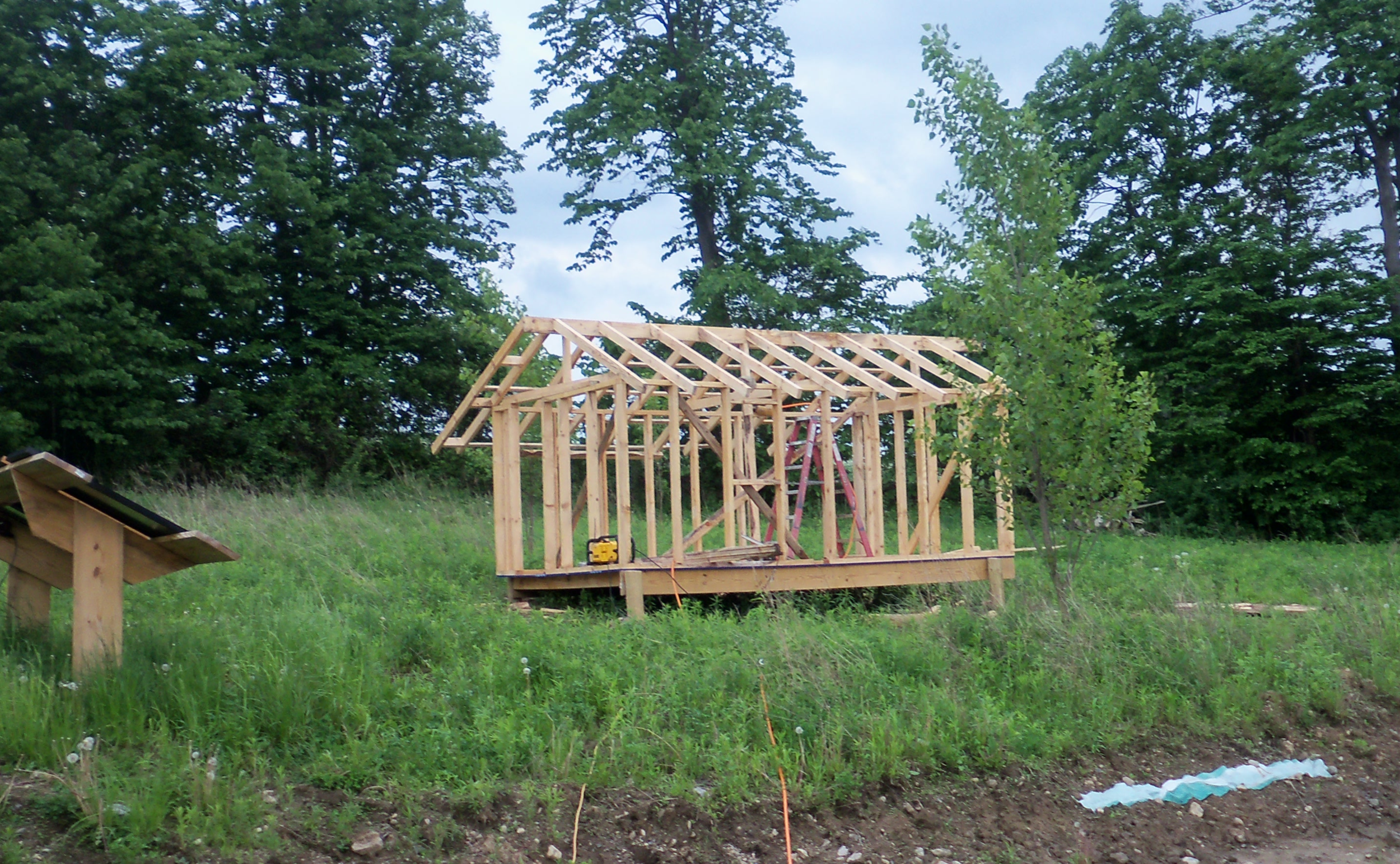 The coop is going to be a very cute little building up there.
