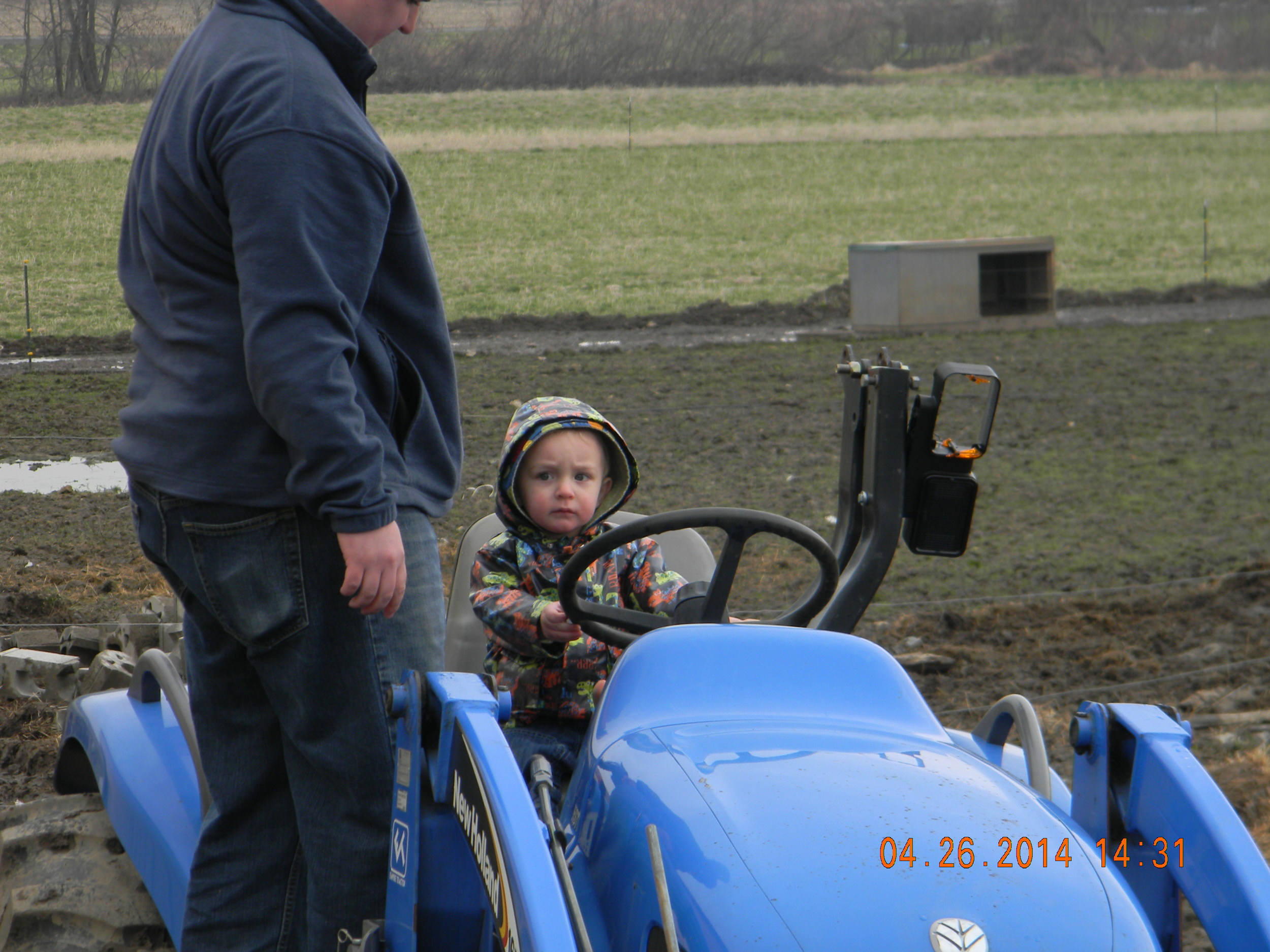 Toddler on a tractor!