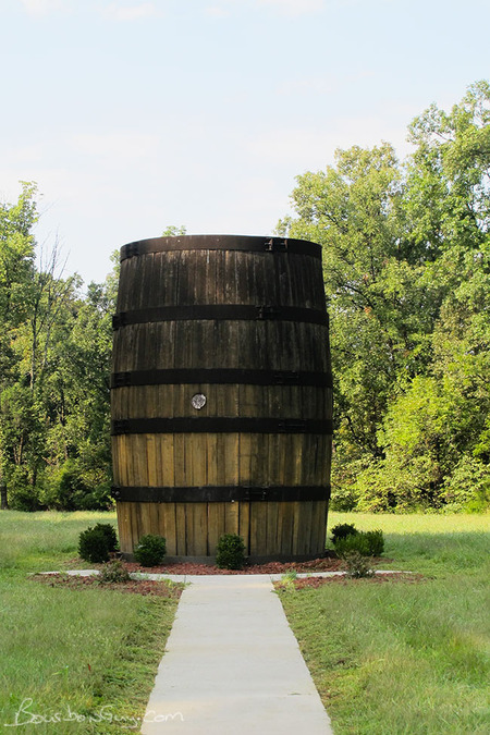I can't forget the world's largest whiskey barrel. Can I? Near a visitor picnic area, the only one I saw at a distillery.