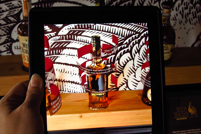 Bottle Display with iPad