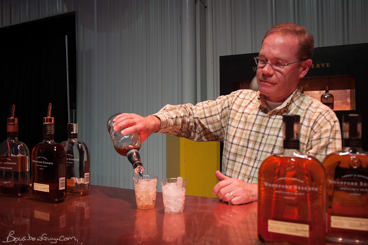 Chris Morris, Master Distiller at Woodford Reserve, pouring a couple Old Foresters at the All-Star Sampler™.