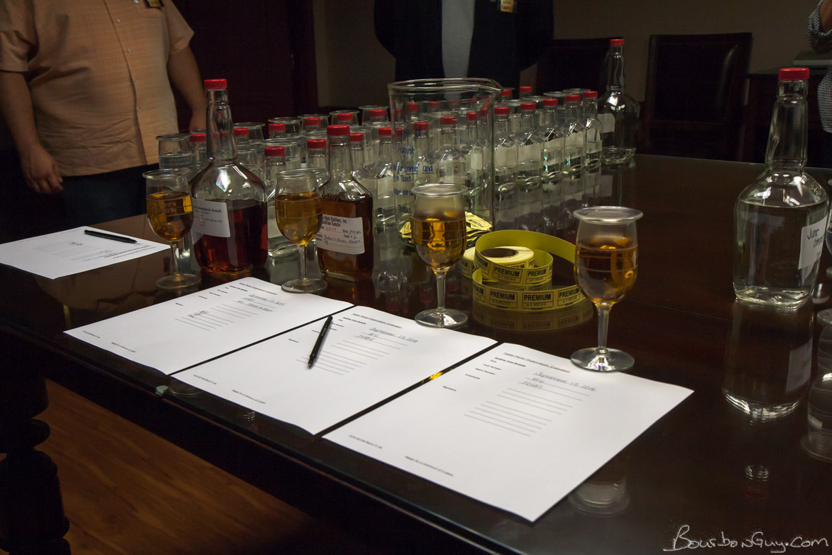 The Maker's Mark tasting panel. Shot in September 2014 while on the Beyond the Mark tour.