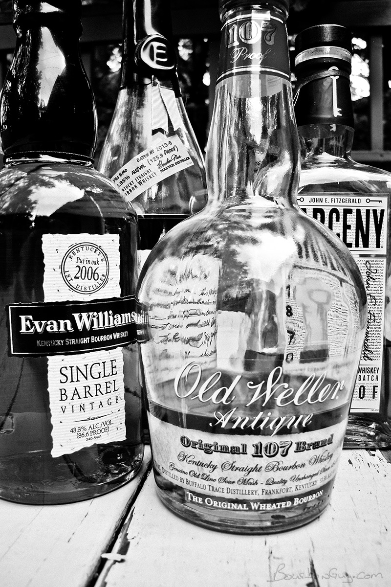 Evan Williams Single Barrel 2006, Larceny, Old Weller Antique, and Booker's bourbons make up my new blend.
