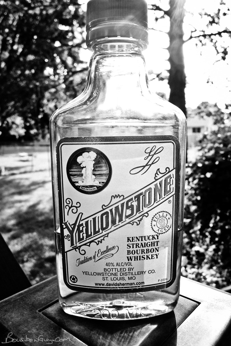 A small bottle of Yellowstone Bourbon