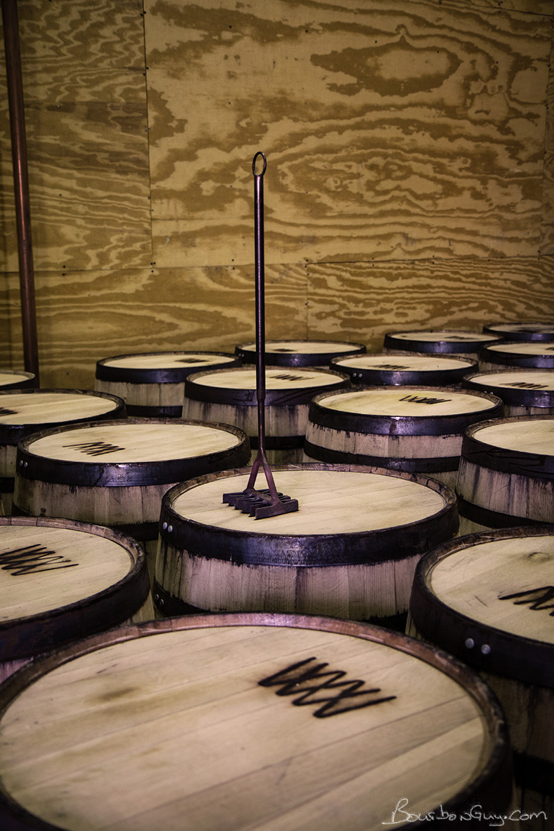 Though the info is written on by hand, true to the cattle ranching roots, the barrel's logo is branded on.