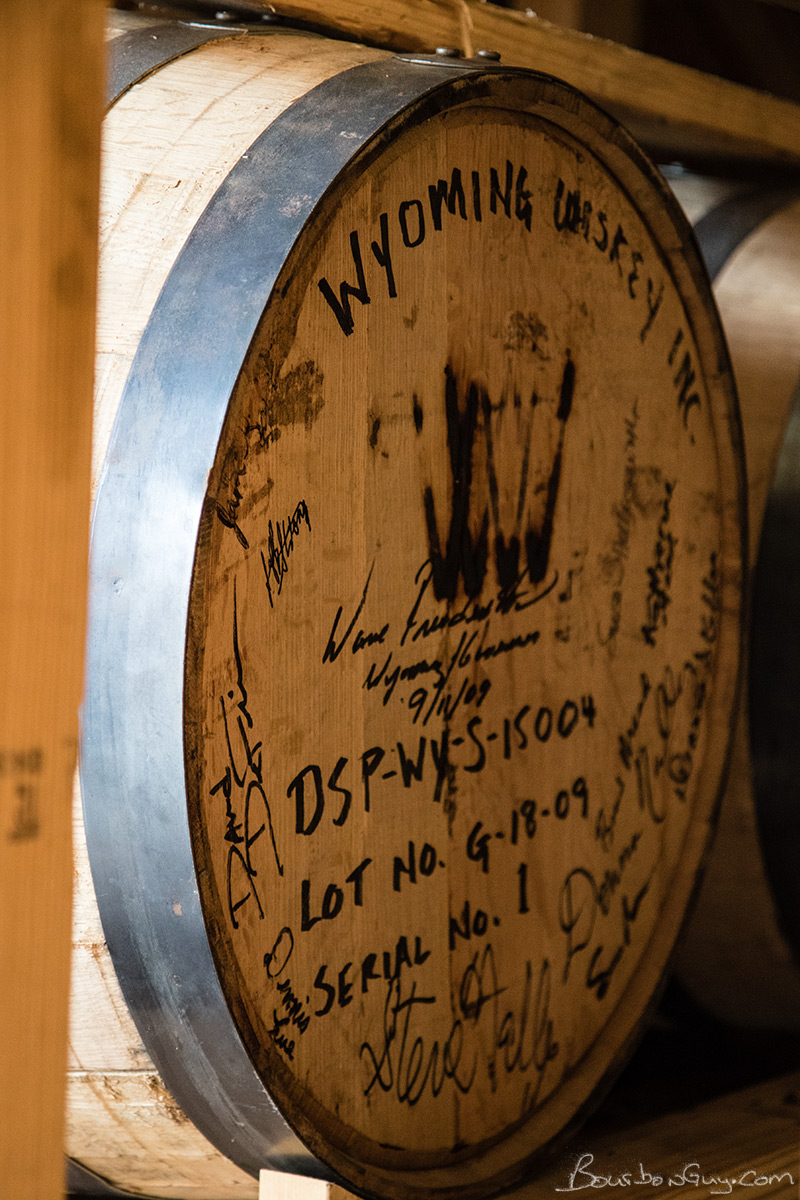 When we entered an aging warehouse, I noticed this guy. Barrel number 1.