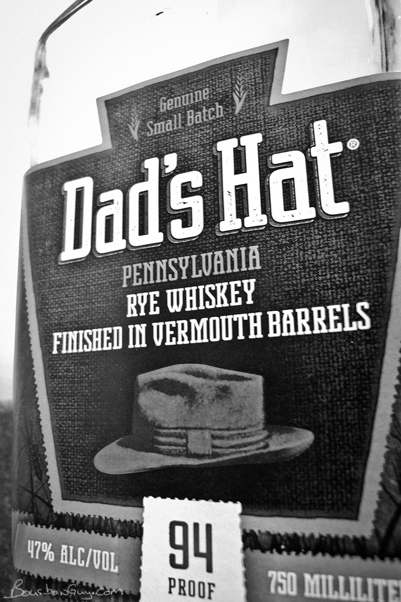The label of Dad's Hat Rye finished in Vermouth Barrels