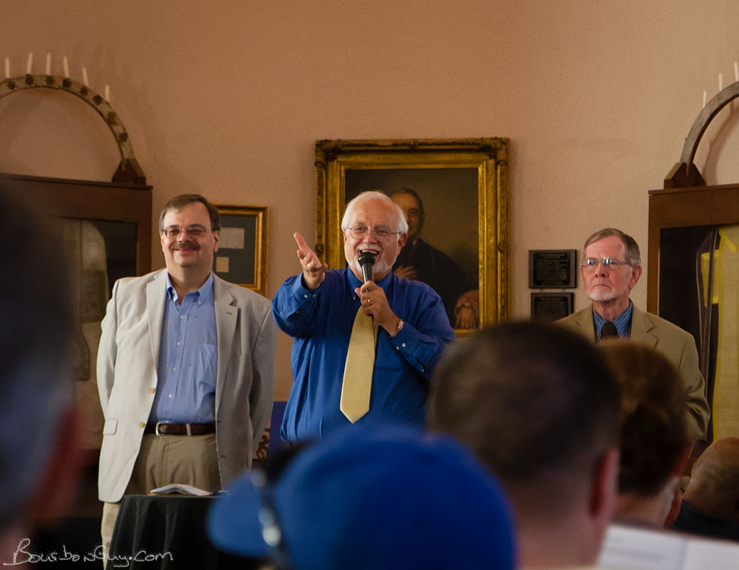 An image from the 2014 Master Distiller's Auction, the three hosts.