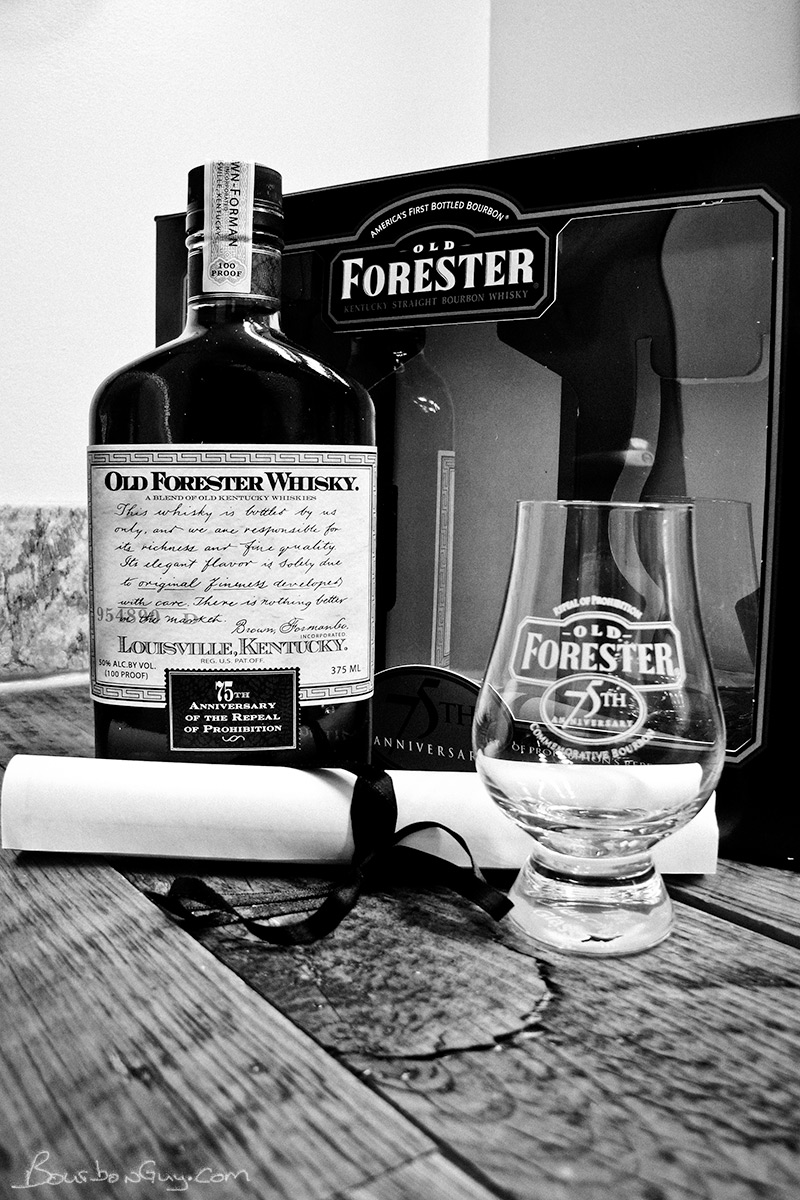 "Old Forester ""75th Anniversary of Repeal"" gift set"