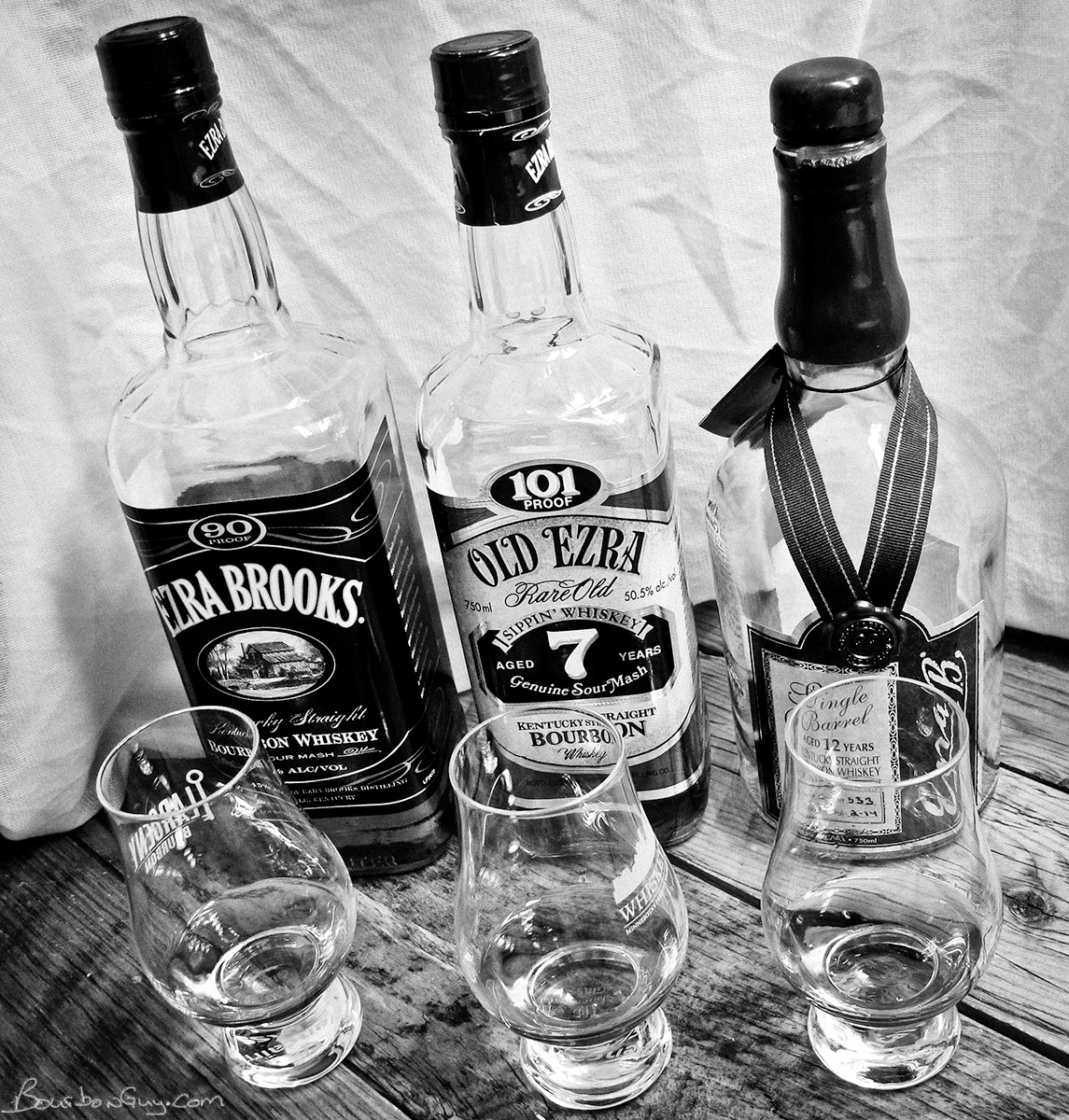 The Ezra Brooks family of bourbons