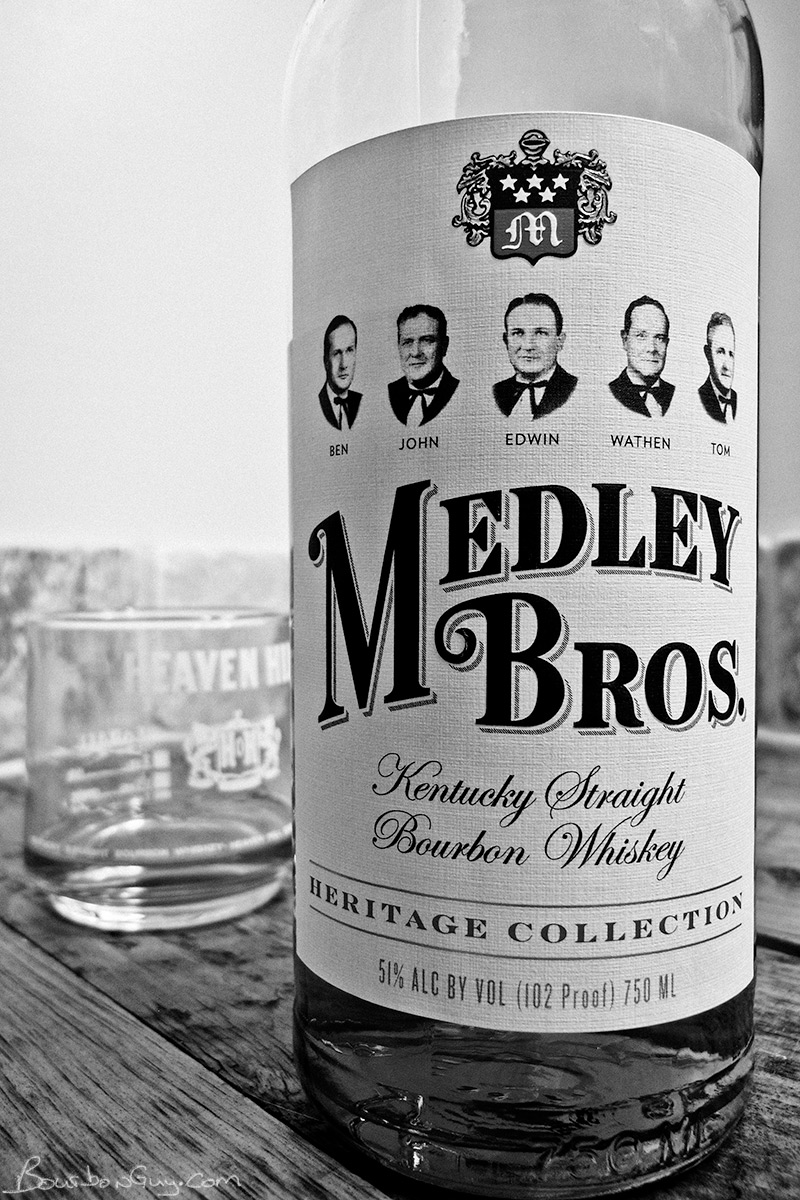Medley Bros, Kentucky Straight Bourbon Whiskey and the glass I was drinking it out of while taking the photo.