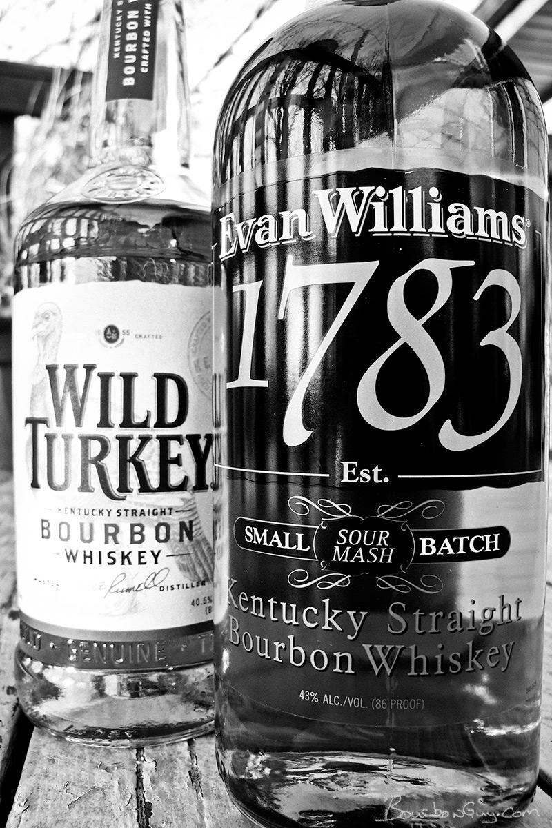 Evan Williams 1783 vs Wild Turkey