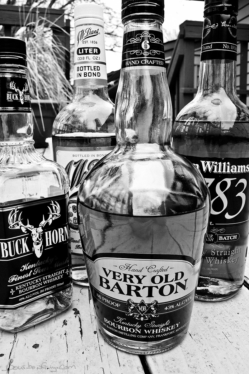 The Championship rounds: Buckhorn, Very Old Barton 86 proof, Evan Williams 1783 and JW Dant
