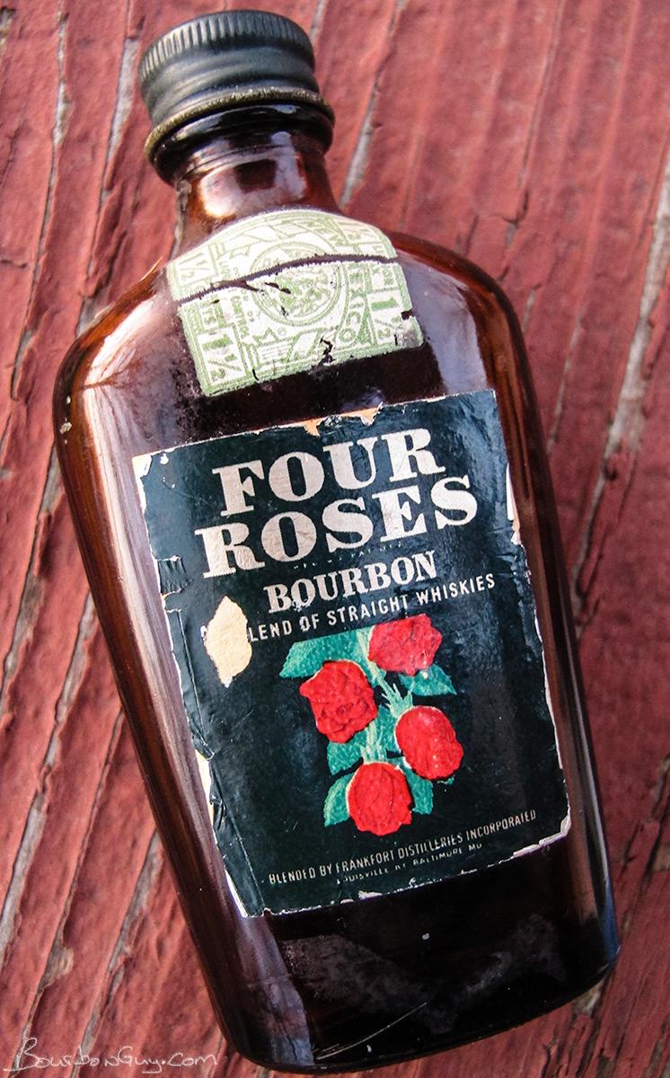 1941 miniature bottle of Four Roses.