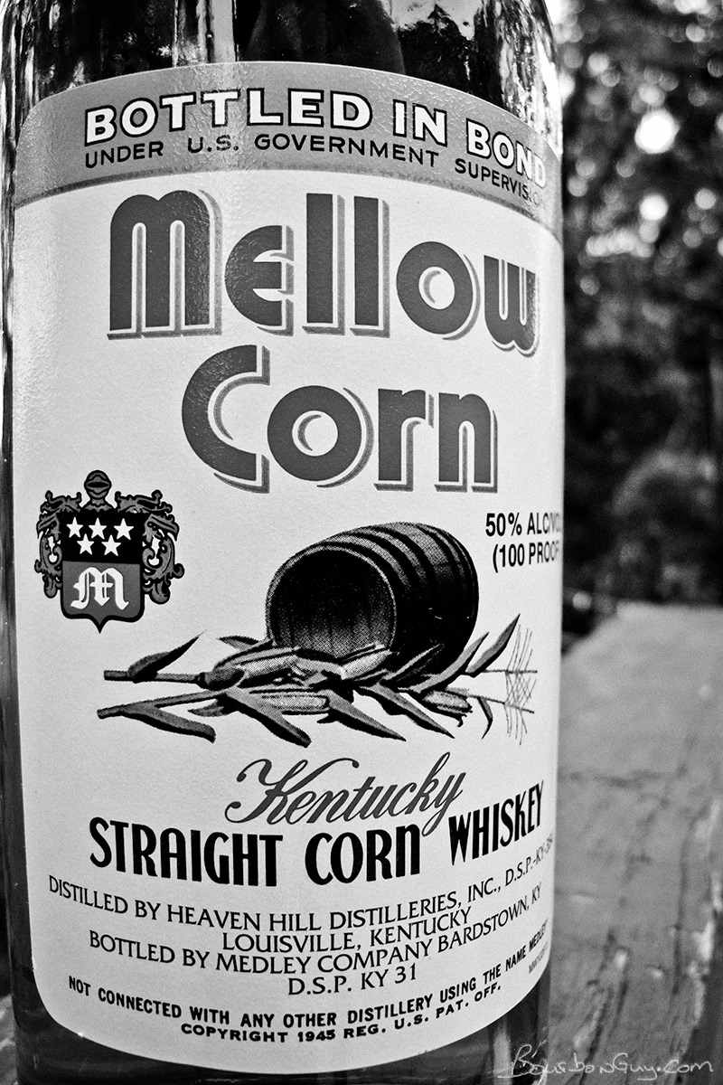 The bottle of Mellow Corn Bottled in Bond I bought after tasting the sample my friend gave me.