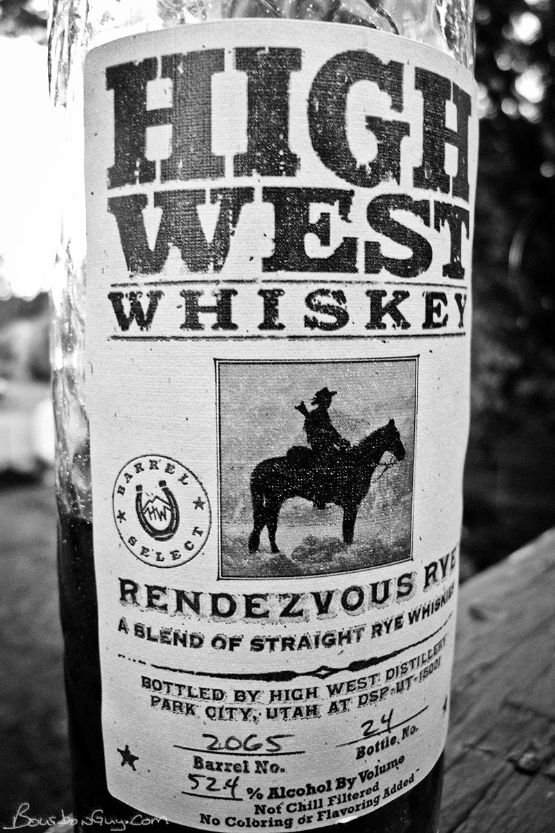 High West Rendezvous Rye, Barrel Select, finished in used Bourbon barrels