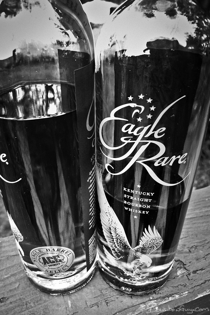 Two Eagle Rare Bottles. One from Ace Spirits, one from a grocery store in Wisconsin