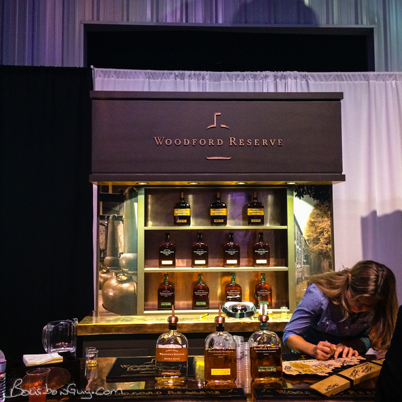 The Woodford Reserve table at the All-Star Sampler