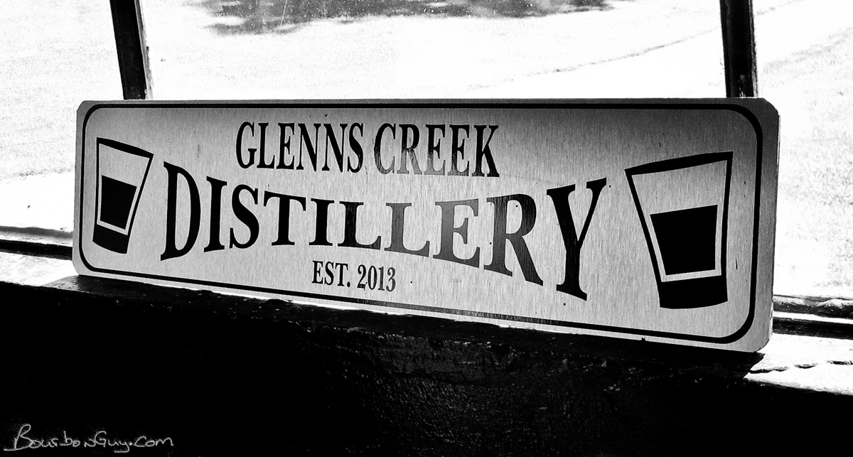 The Glenn's Creek Distilling sign