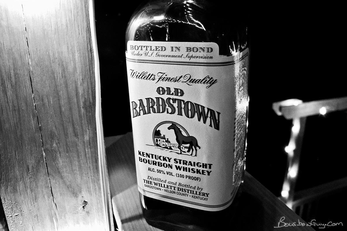 Old Bardstown Bottled in Bond Willett distilled bourbon.