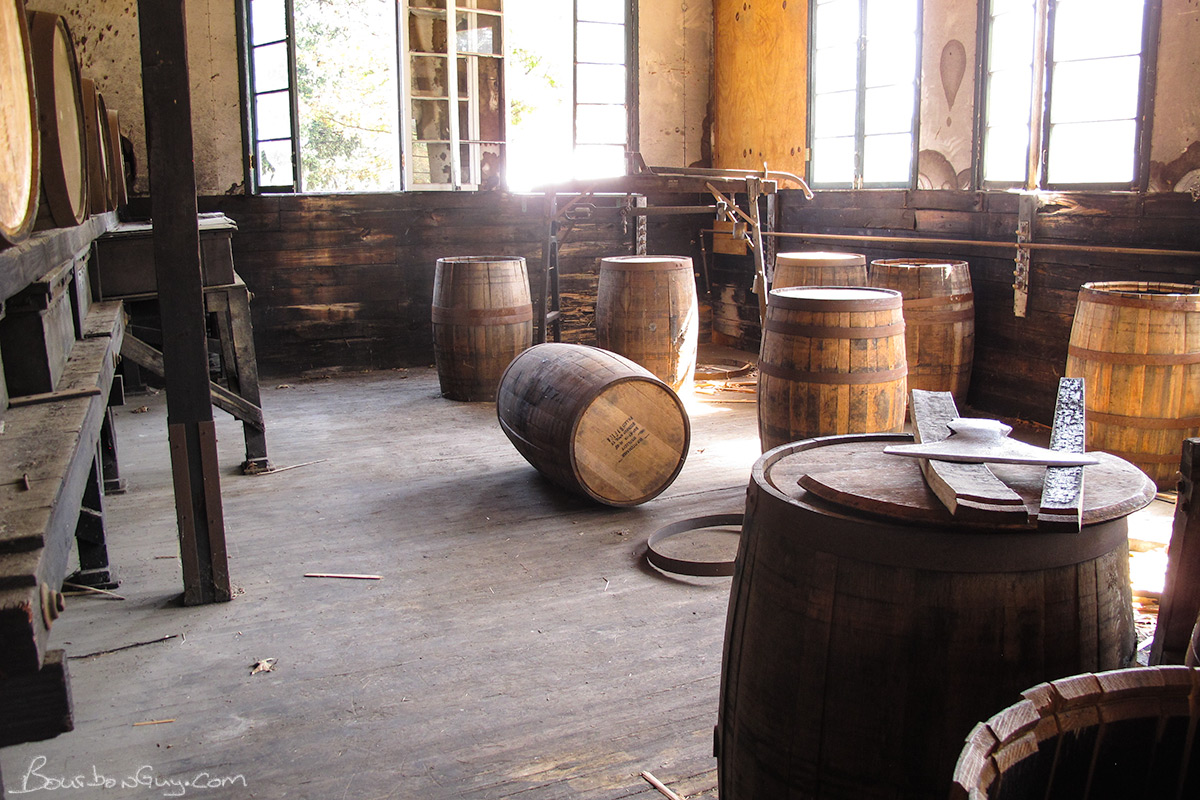 "The cooperage. I wonder how many hours it took a set designer to decide just where to put that barrel. It would have been an ""ah HA"" moment to behold when the inspiration came to lay it on its side."