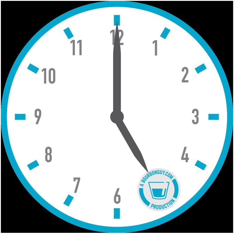 5 year clock graphic