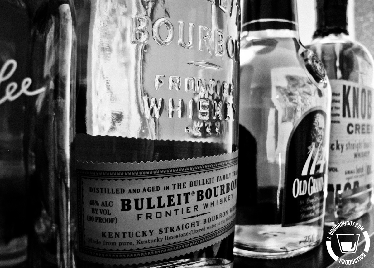 Bulleit, Old Grand Dad, Knob Creek and Elmer T Lee.