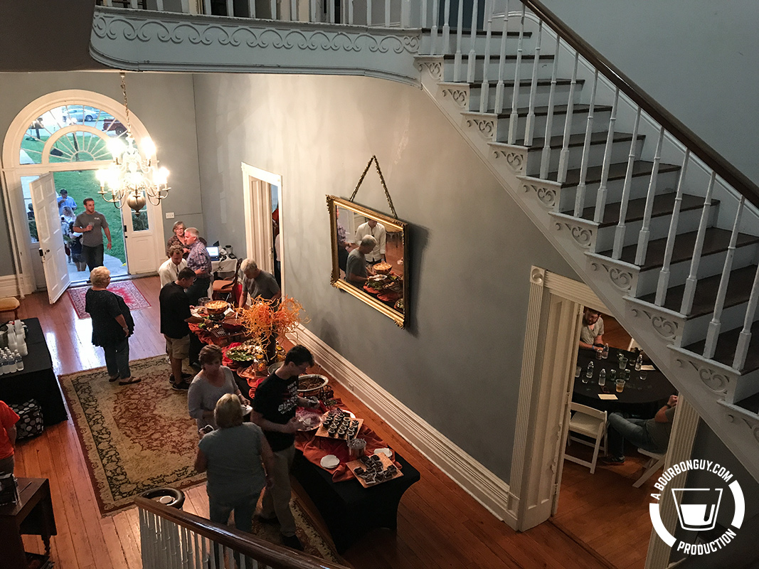 Indoor crowd at the Bottled in Bond Fire event