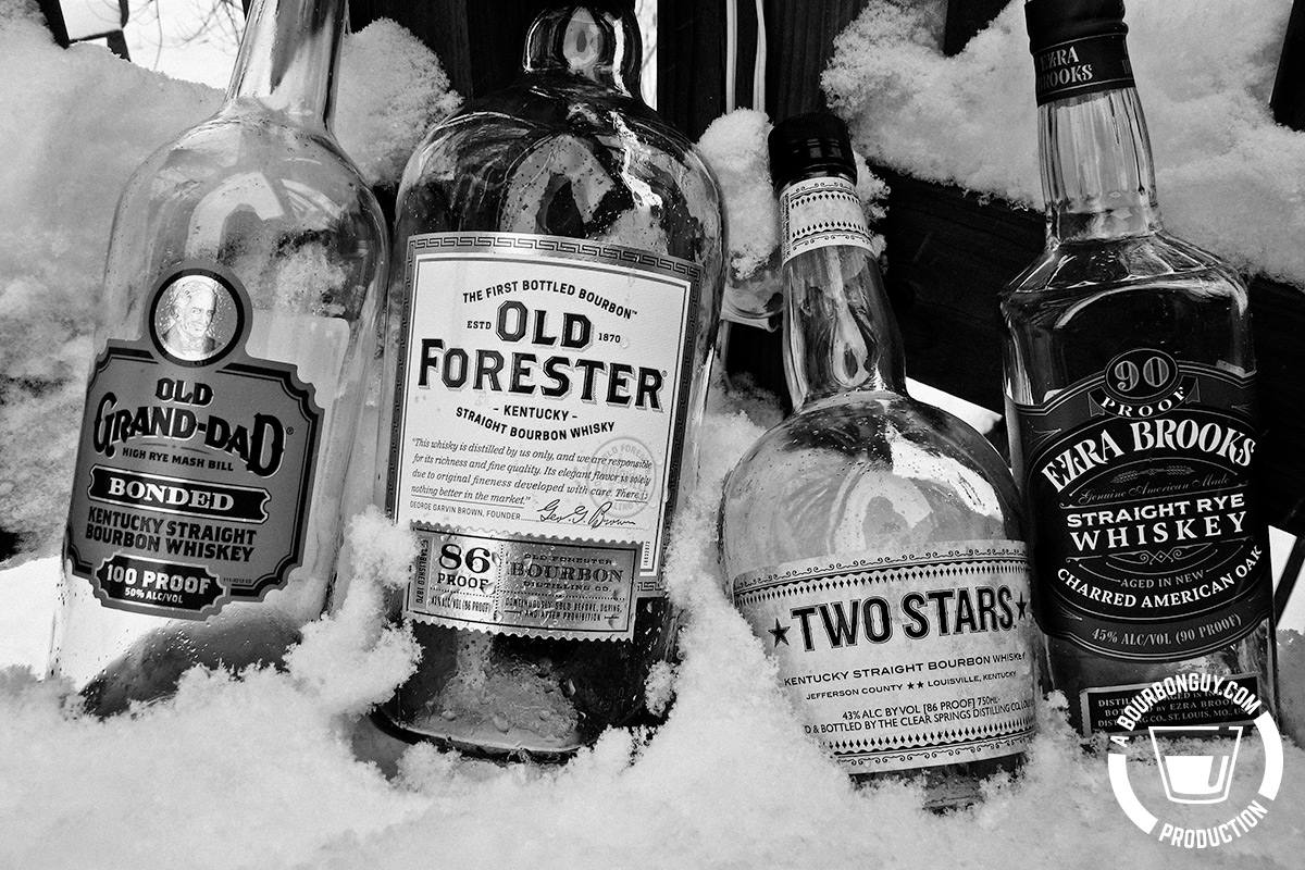 Image: The four finalists: Old Grand-Dad, Ezra Brooks Rye, Old Forester, Two Stars