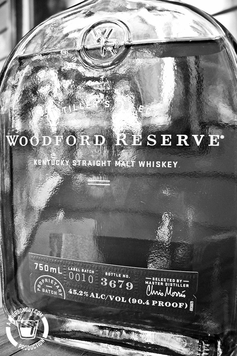 IMAGE: front label of Woodford Reserve Straight Malt Whiskey