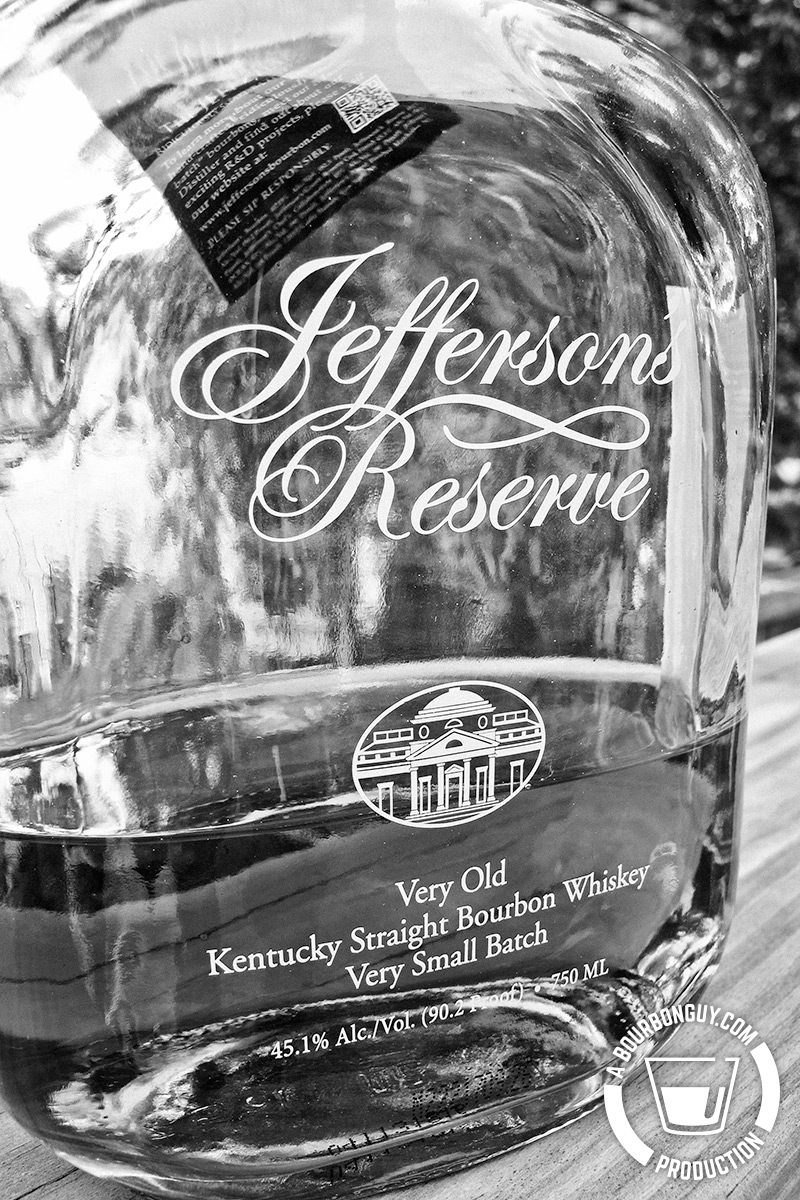 IMAGE: the front label of Jefferson's Reserve Bourbon