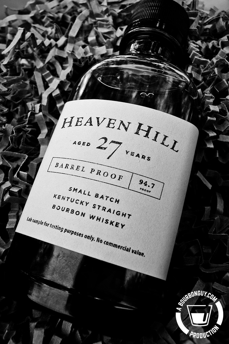 IMAGE: sample bottle of Heaven Hill 27-Year-Old Barrel Proof Small Batch