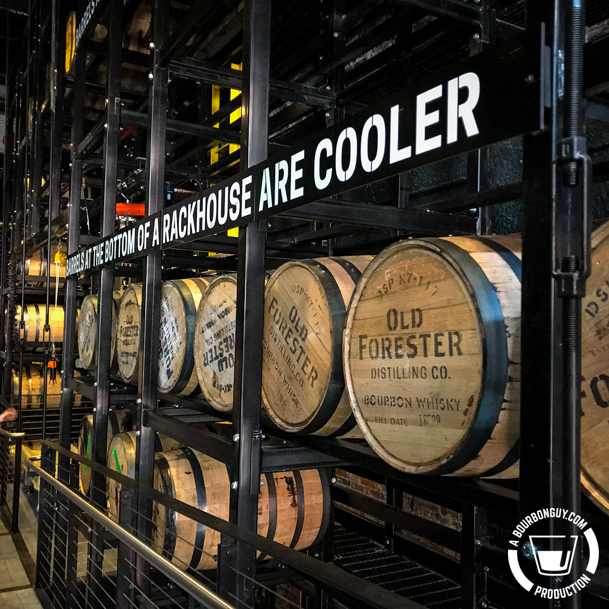 Old Forester Distilling Co. Aging Barrels