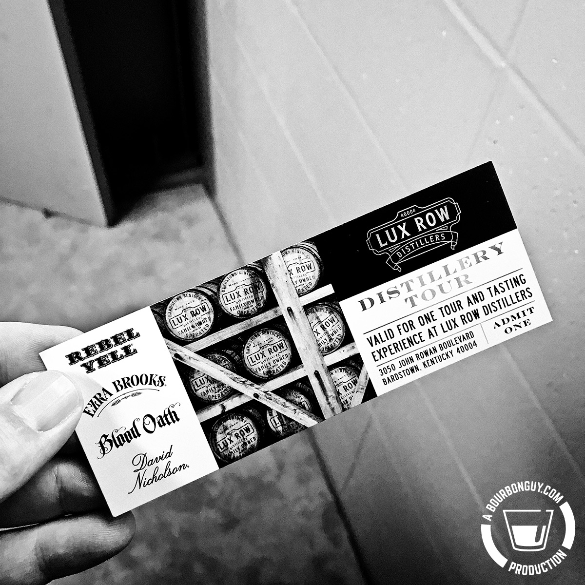 IMAGE: The Lux Row Distillery tour ticket