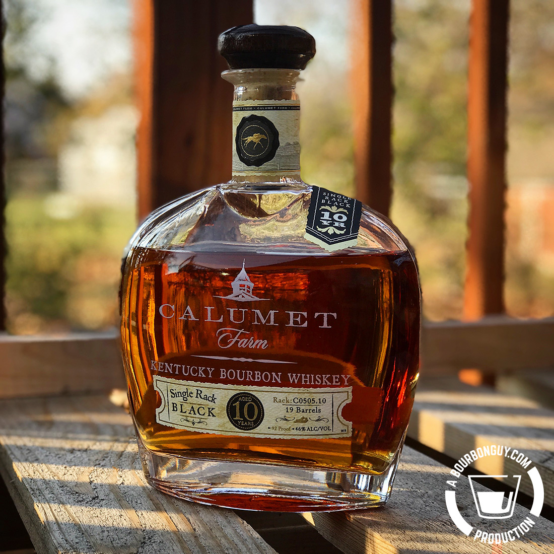 IMAGE: Calumet Farm 10-year-old Single Rack Black Bourbon