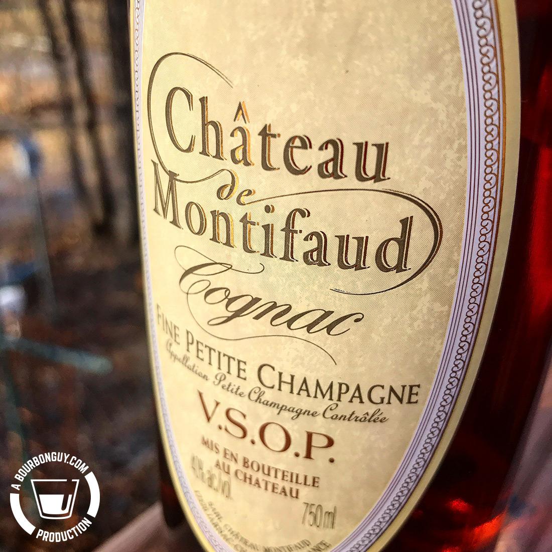 IMAGE: The front label of a bottle of Chateau de Montifaud VSOP cognac.