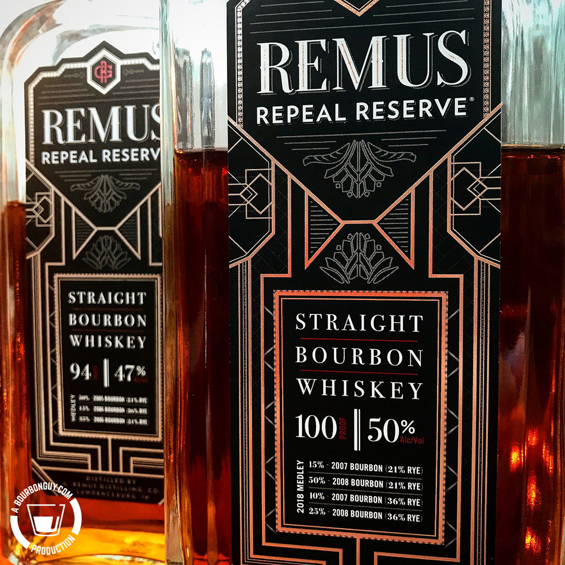 IMAGE: Bottle fronts of Remus Repeal Reserve Series 1 and Series 2.