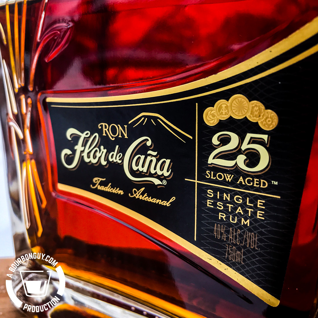 IMAGE: Front label of Flor de Caña 25 Year Old Rum