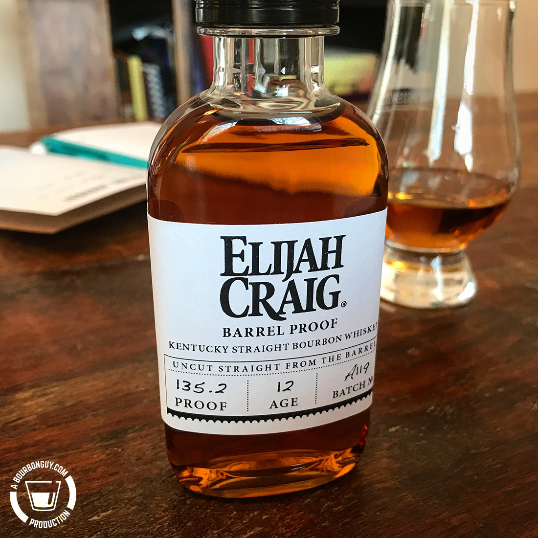 IMAGE: Sample bottle of Elijah Craig Barrel Proof, Batch A119