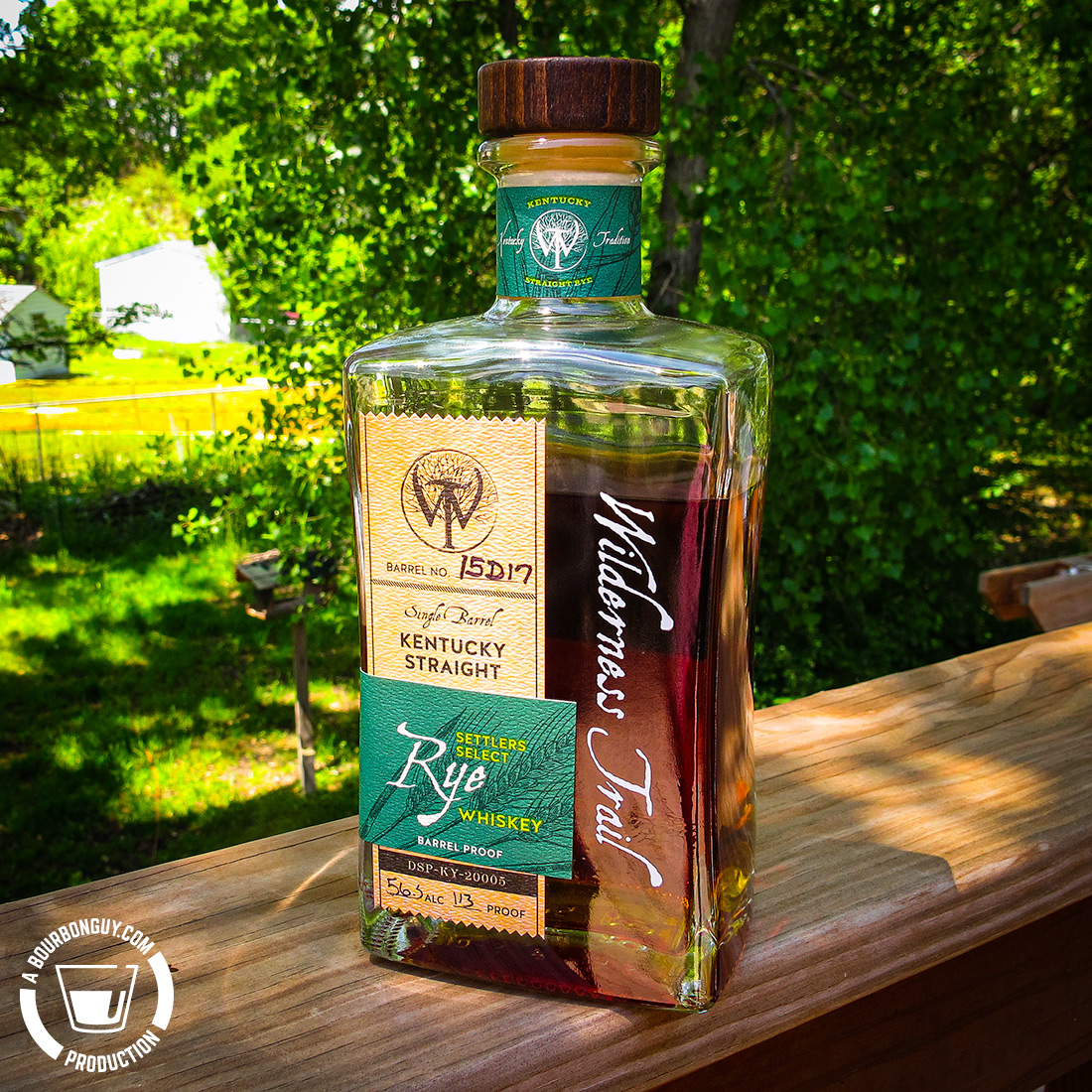 "IMAGE: Wilderness Trail Single Barrel ""Settlers Select"" Rye Whiskey"