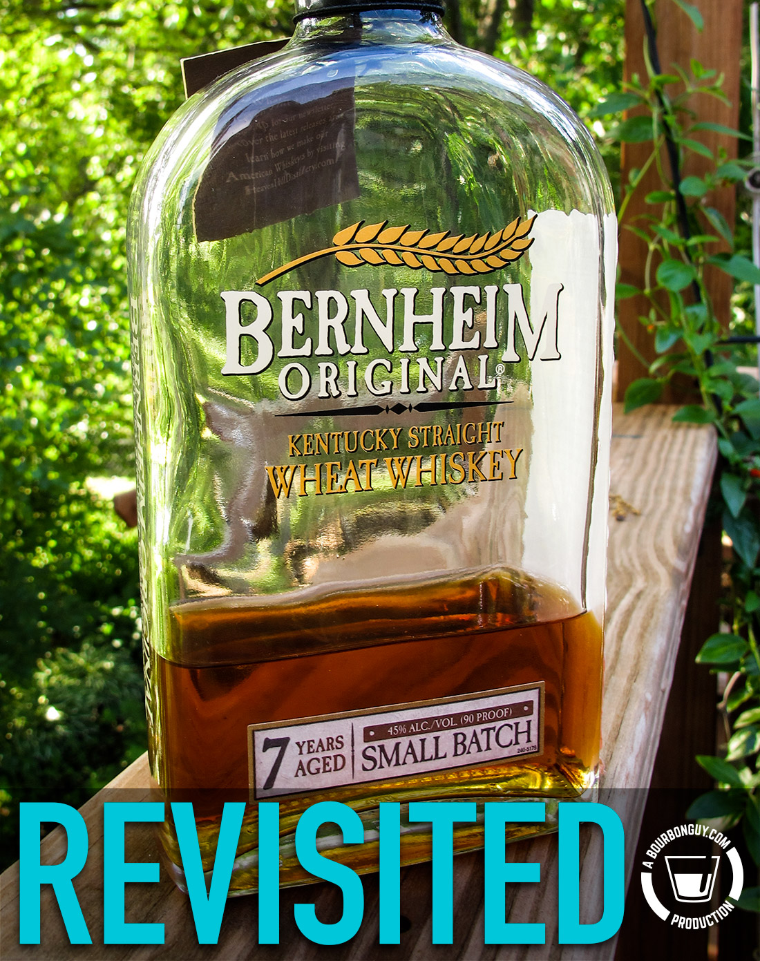 IMAGE: the front label of a bottle of Bernheim Original Kentucky Straight Wheat Whiskey