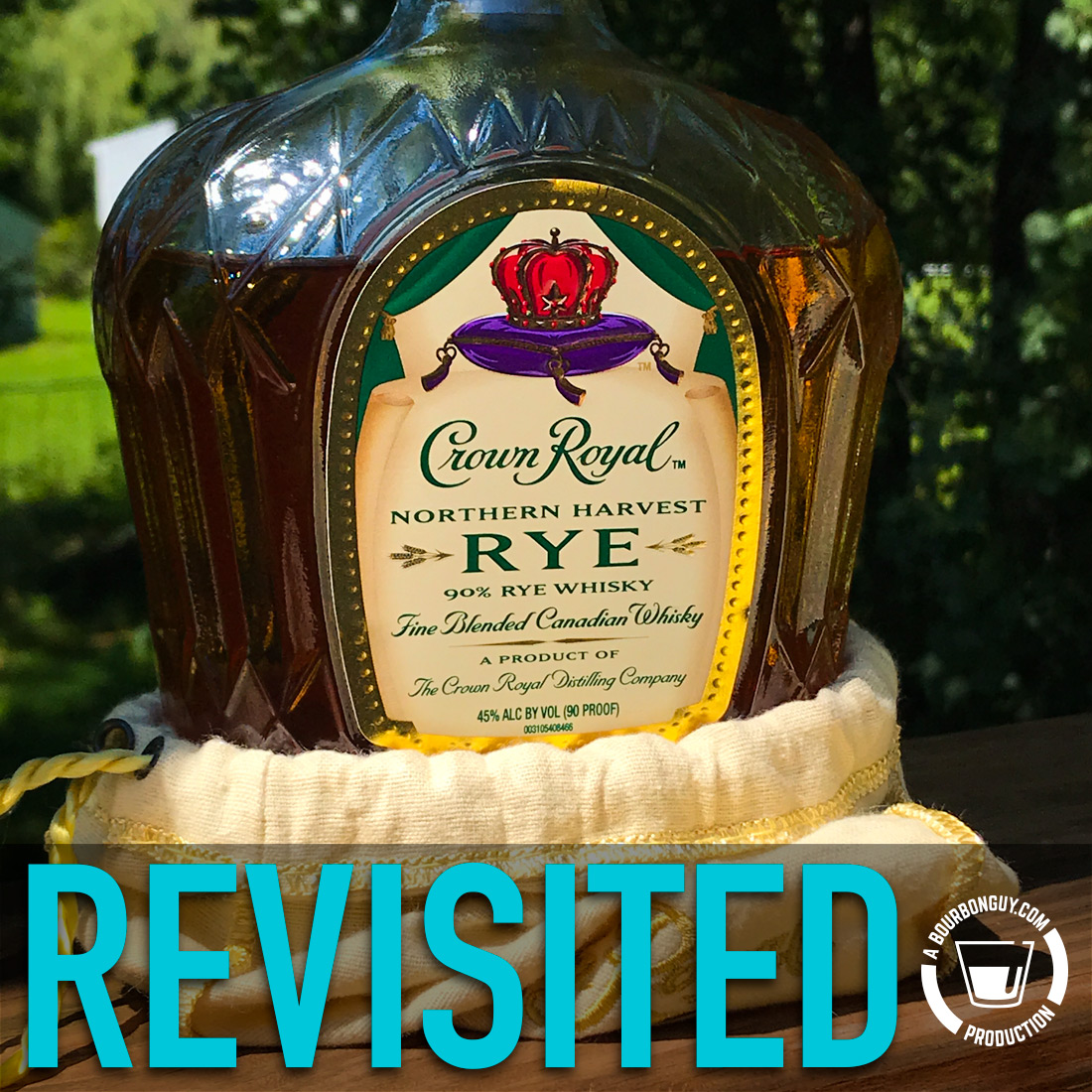 IMAGE: Crown Royal Northern Harvest Rye bottle in a beige bad