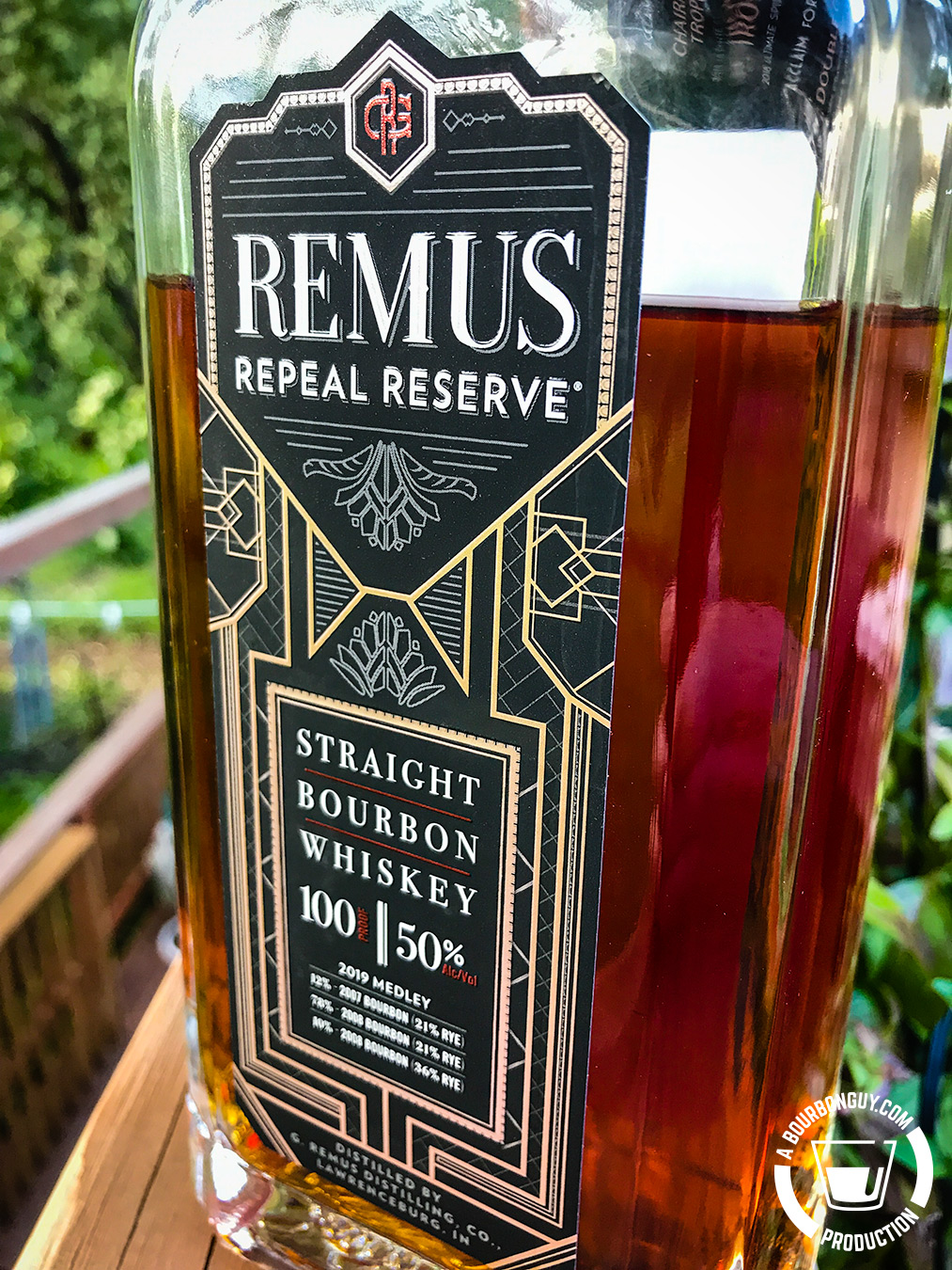 IMAGE: Front label of Remus Repeal Reserve, 2019 edition. 100 proof and made from 11 and 12 year old MGP bourbons.