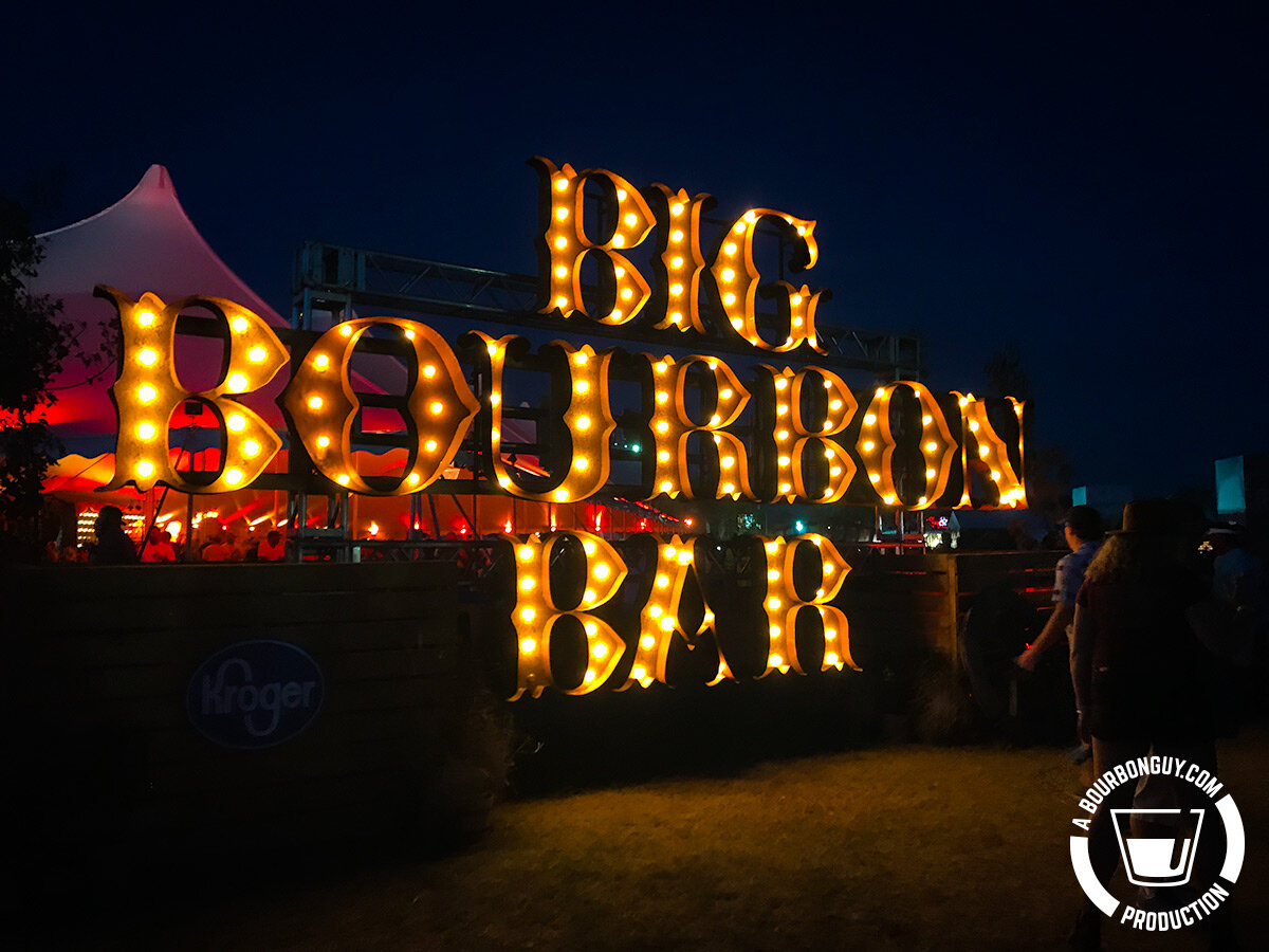 IMAGE: Sign from inside Bourbon and Beyond music festival. It reads: Big Bourbon Bar.