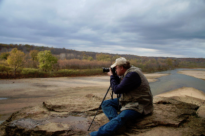 St. John's member, Scott, at Ledges State Park.