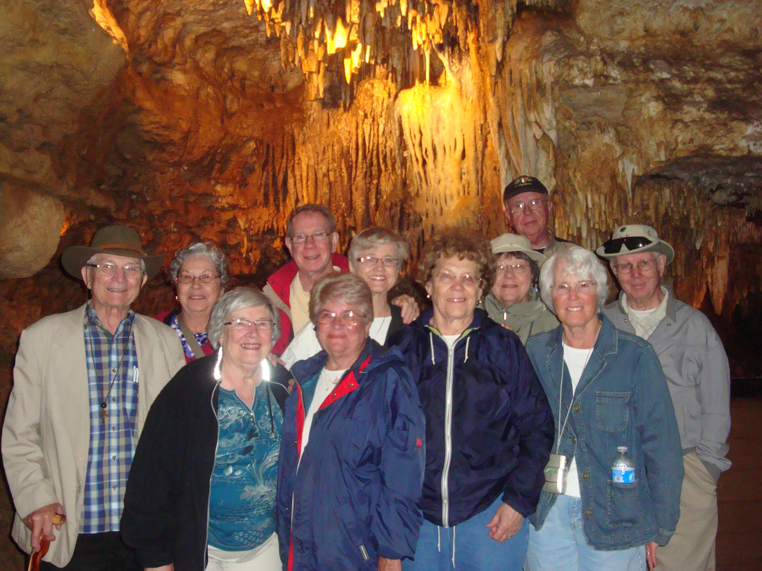 Members of the EAGLES checking out the caves in North Eastern Iowa.