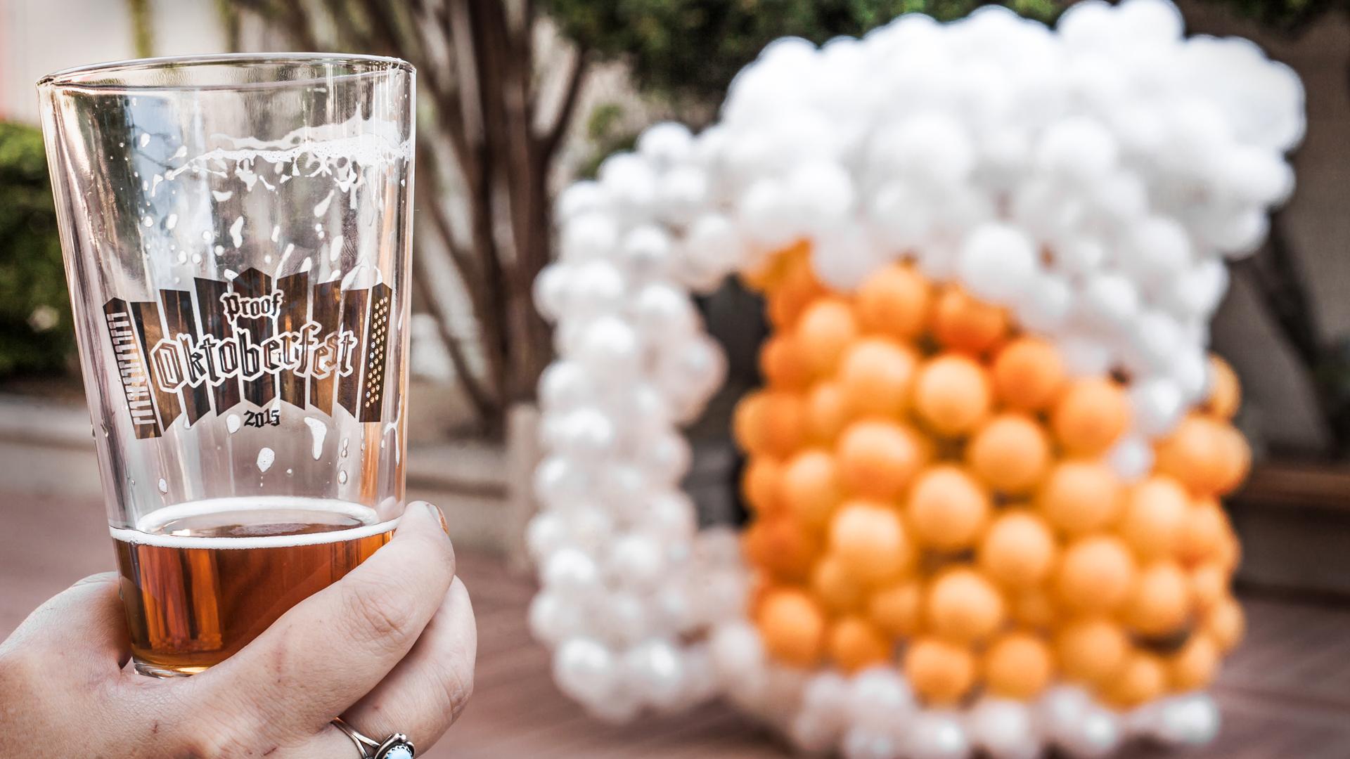 Proof Oktoberfest Accordion  Pint Glass  & Mug  Balloon Sculpture