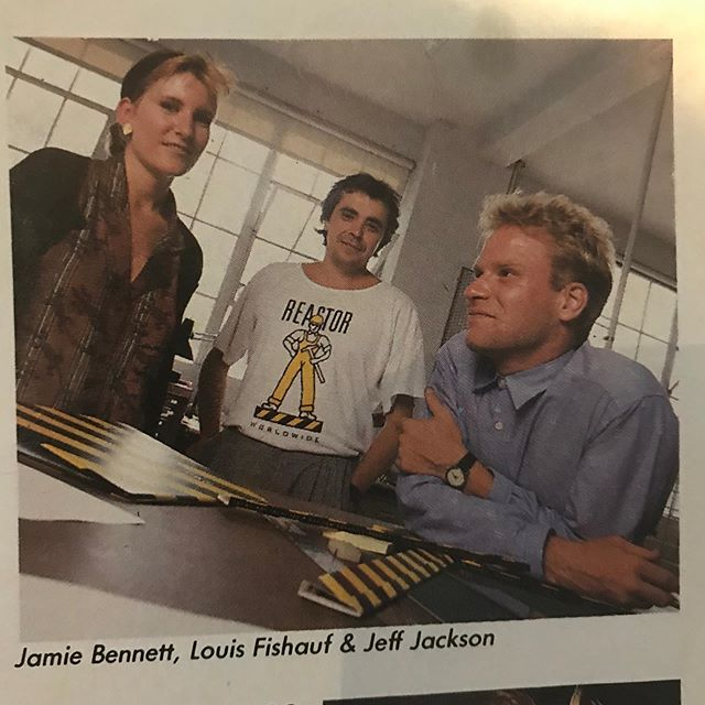 My sister Diane was going through some old photos and found some stuff that was published in different magazines about me. This was published in Chatelaine/Nov. 1986 . Me with @fishaufdesign and @jeff.jacksonart