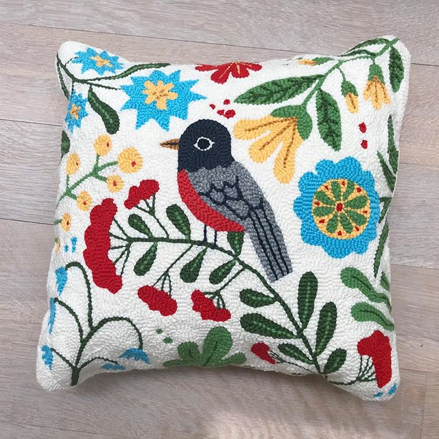 This is a pillow that I made for my good friend @marycdickie to give to her sister Robin @dickiekiely for her birthday. Robin is also a dear friend who was once my rep, first in NYC and then later in Toronto. Happy Birthday Robin!